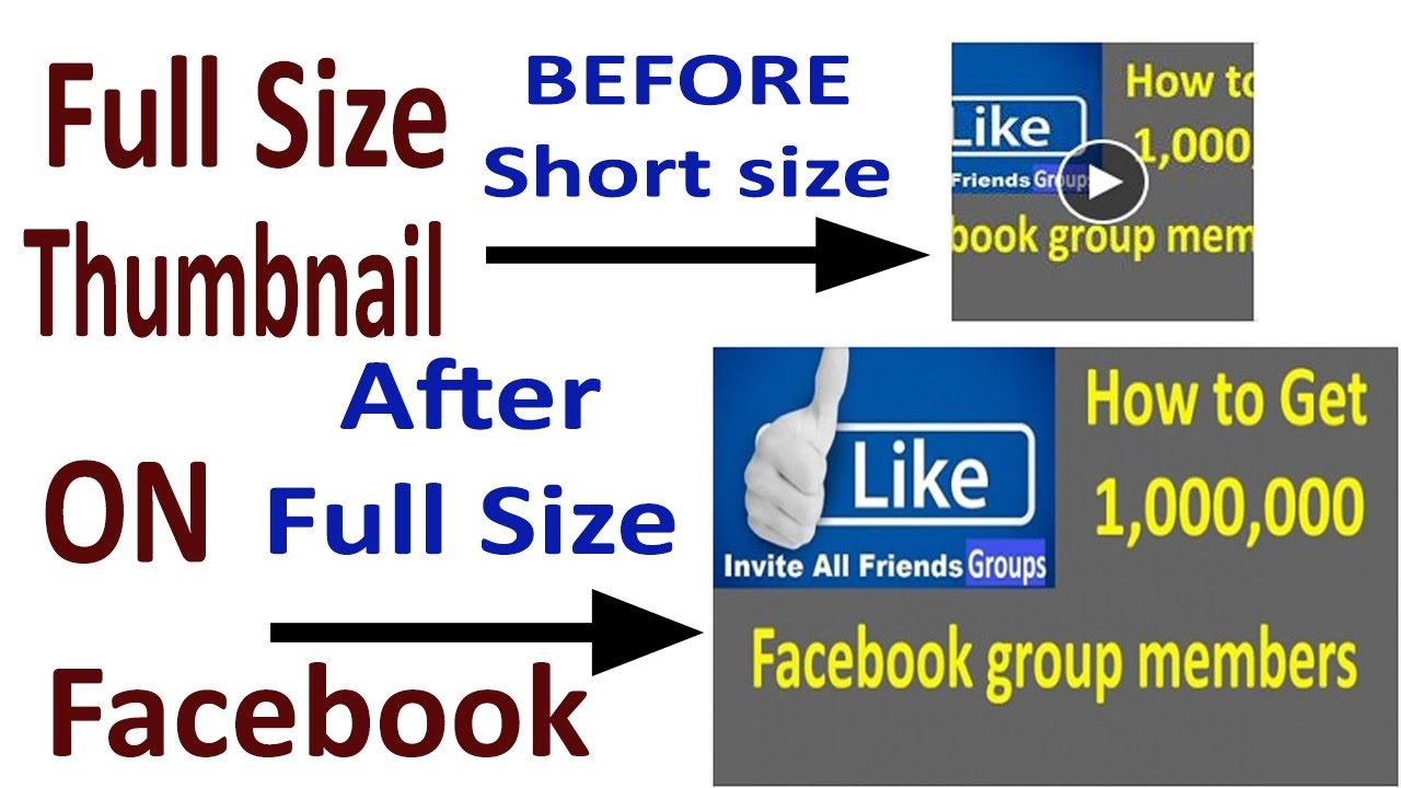how to share your youtube video on facebook with full size ...