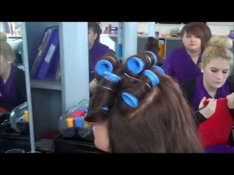 Learn how to hair up for bridal with heated rollers, tongs, vertical roll,  back combing