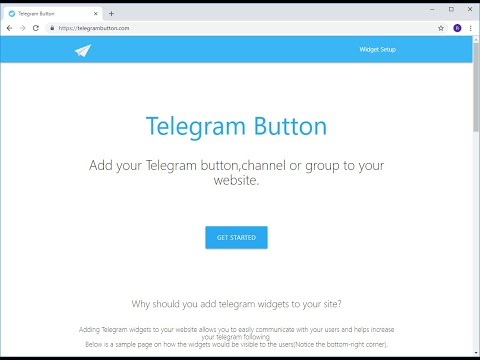 How To Add Telegram Channel And Button To Your Website