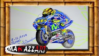 valentino rossi 46 the real champion drawing by makazz art