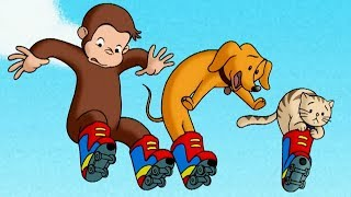 Curious George 🐵 Roller Monkey 🐵Full Episode🐵 Videos For Kids 🐵 Kids Movies