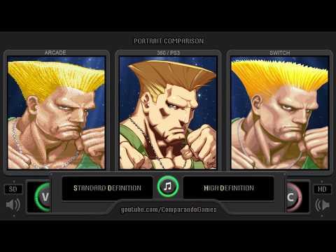 Portrait Comparison Of Super Street Fighter II (SD Vs HD Remix Vs Ultra) Side By Side Comparison
