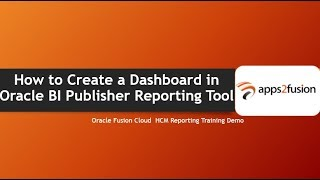 كيفية إنشاء لوحة القيادة في Oracle BI Publisher أداة الإبلاغ