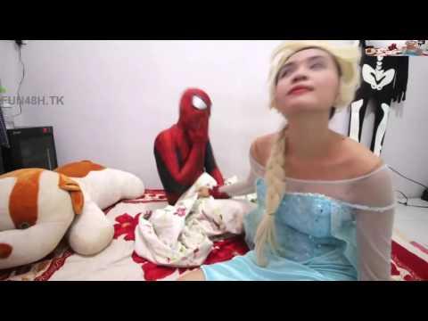 Spiderman★Spiderman Costume Stolen Elsa, Pink Spidergirl★Funny Superhero in Real Life♥♥♥
