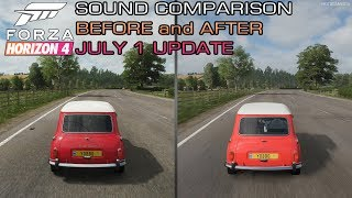 Forza Horizon 4 - 1965 Mini Cooper S Sound Comparison - Before and After July 1 Update