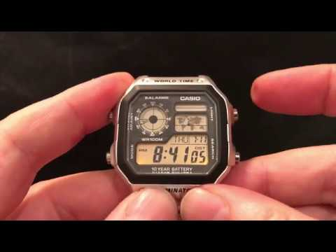 How To Set The Time And Day/date On Your Casio AE1200 Or AE2100