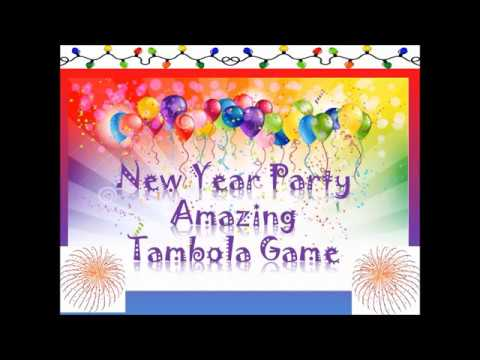 2019 🎈🎈unique,impressive New Year Party Tambola Games & Kitty Party Games( Lucky & Win Tambola)