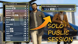 How to make Solo public session in GTA Online