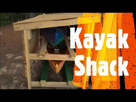 Kayak Storage Shed / Rack (Do It Yourself / Homemade)