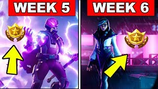 FORTNITE WEEK 5 AND WEEK 6 LOADING SCREEN WITH SECRET BATTLE STAR AND SECRET BANNER LOCATIONS