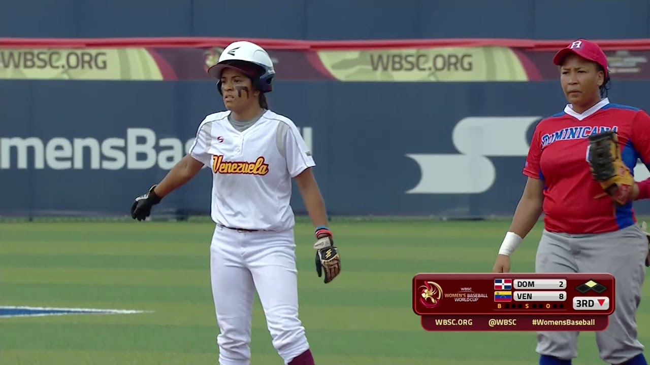 Highlights: Dominican Rep v Venezuela - Super Round - Women's Baseball World Cup 2018