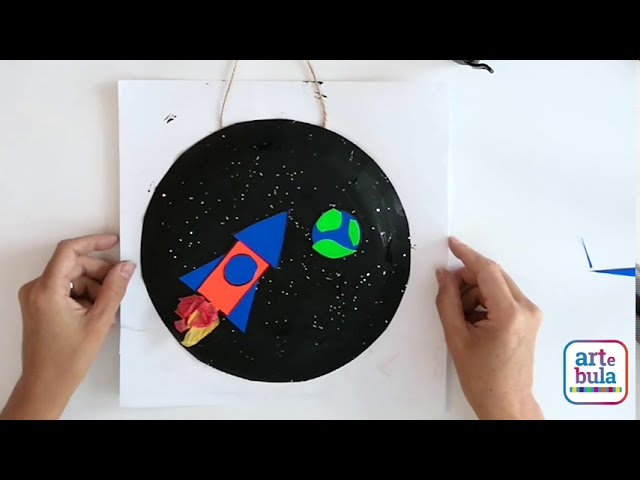 Paper Plate Rocketship Craft