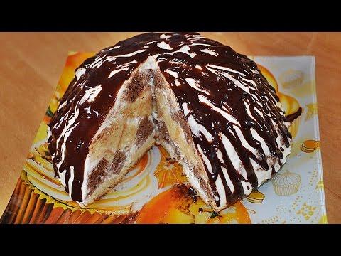 Бисквитный торт простой и вкусный