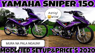 Yamaha sniper 150cc /modefied/set up \u0026 PRICE'S 2020