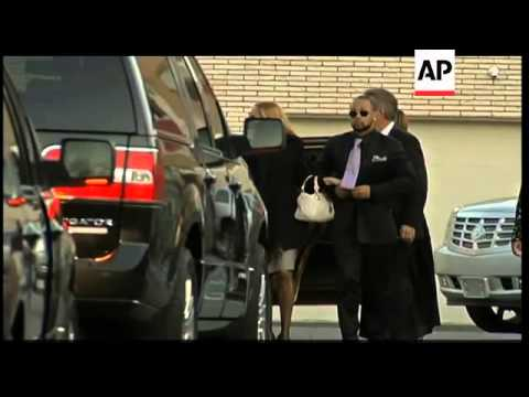 Preparations for funeral of Whitney Houston, family arriving