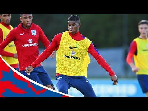 Rashford shows off skills in training with England U21s   Inside Training