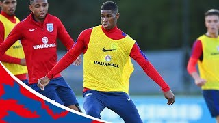 Rashford shows off skills in training with England U21s | Inside Training