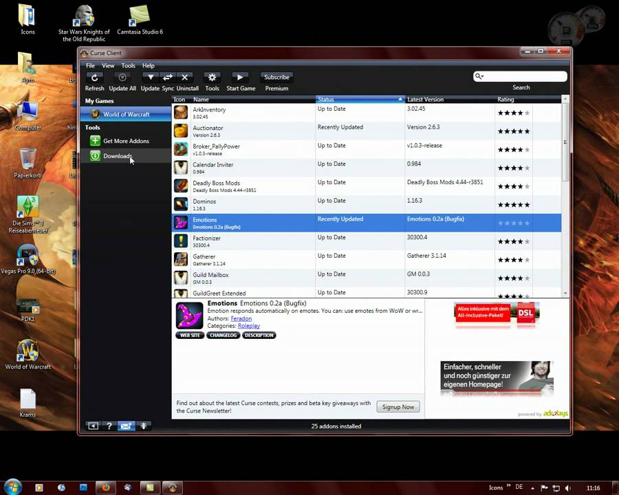 Download curse wow addons.