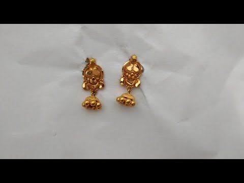 1 Gram Gold Earrings New Design Youtube,Gold Chain Designs For Womens With Price