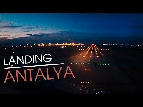 CockpitSeries: Night Landing Antalya Airport