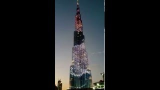 Burj Al Khalifa light show GoPro 3+