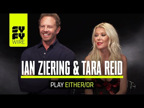Ian Ziering And Tara Reid Play EitherOr Including Sharknado Vs. Meg  SYFY WIRE