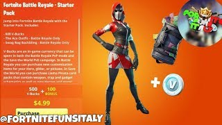 🔴 Live Fortnite ITA - New starter pack in the store. #roadto4k