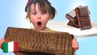 Cinque Bambini Stephy messo in scena una sfida al cioccolato