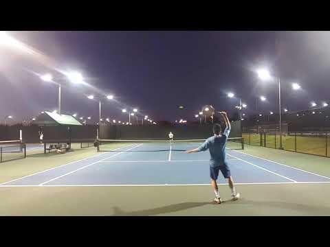 NTRP 4.5 Singles Tennis Practice Match - Sam vs. Xavi