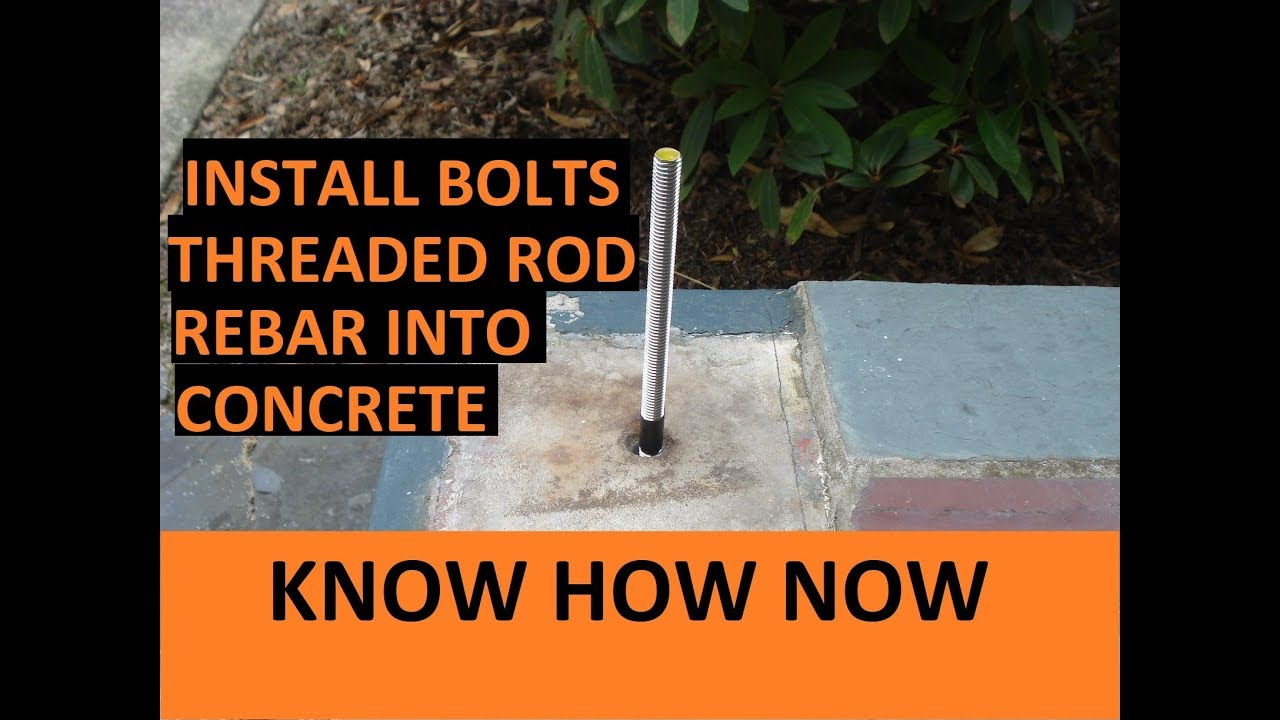 Introduction Install Threaded Anchor into Concrete or Stone Using Adhesive