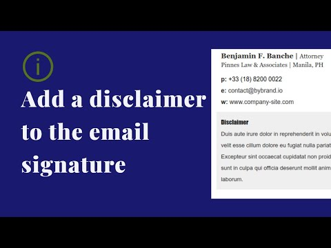 How to add a disclaimer to your email signature