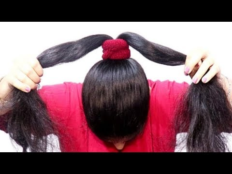 2-new-easy-juda-hairstyles-with-gajra-||-simple-hairstyle-||-cute-hairstyle-||-hairstyle-for-girls