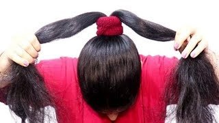2 New Easy juda hairstyles with gajra || simple hairstyle || cute hairstyle || hairstyle for girls
