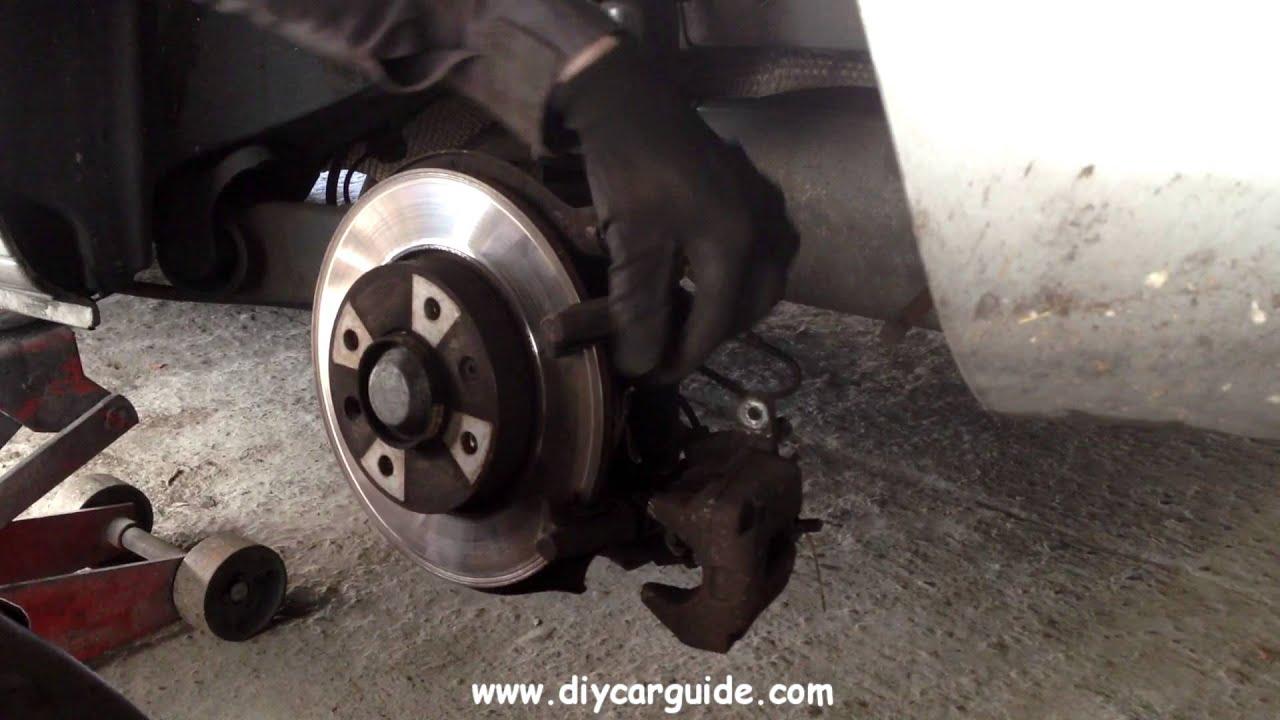 peugot 307 rear brake pads replacement - youtube