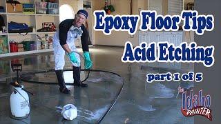 Epoxy Floor Acid Etching.  Step 1 To Epoxy A Garage Floor.