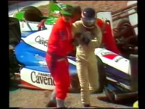 1989 - Birmingham Superprix - Evans and Belmondo accident