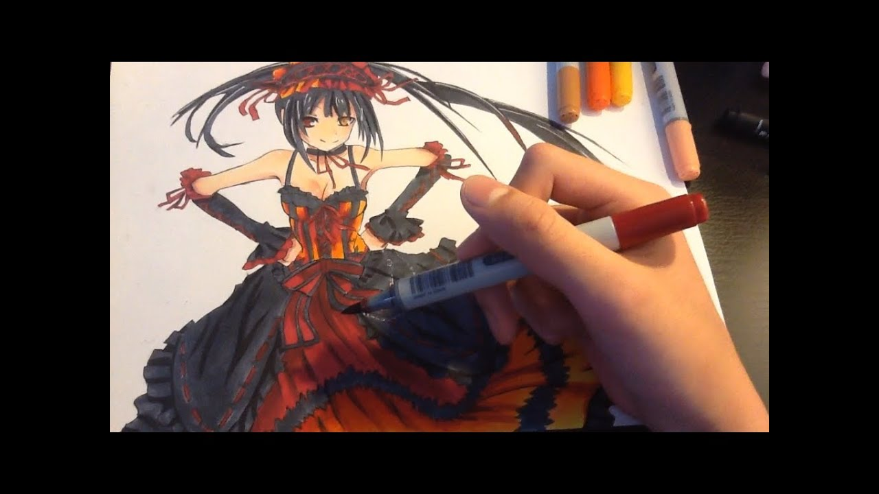 Drawing Kurumi From Date A Live
