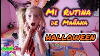 MI RUTINA DE MAÑANA DE COLEGIO EN HALLOWEEN!! MI RUTINA DE  ZOMBIE  DANIELA DIVERTIGUAY