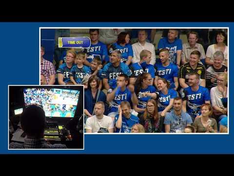 Directing multicam LIVE - volleyball world championships qualifier: Estonia vs Russia, 1st set