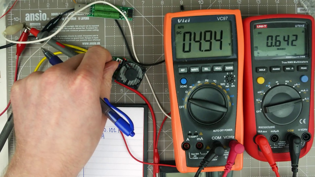 cpt dc dc converter 12v to 5v 3a 15w efficiency test [ 1280 x 720 Pixel ]