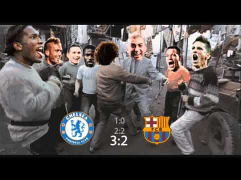 Chelsea dancing after match against Barcelona. Funny dance [HD]