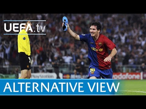 Lionel Messi 2009 Champions League goal v Man.United from every angle