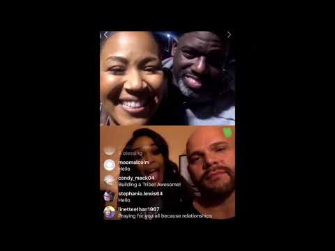 Erica  Campbell Streams Live with Michelle Williams