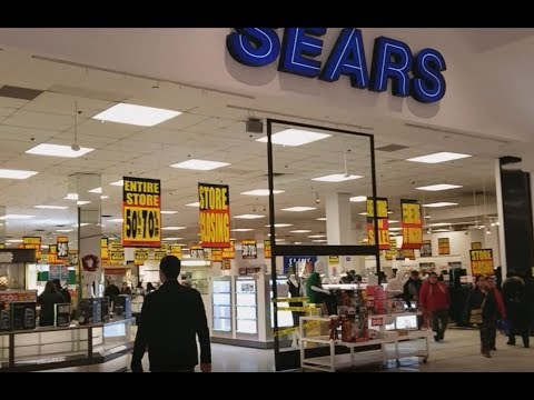 Exploring Bankrupt SEARS Store In Liquidation Sale