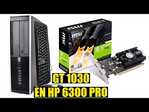 GT 1030 BAJO PERFIL EN COMPAQ HP 6300 PRO SFF | Desempaquetado Revision e Instalacion