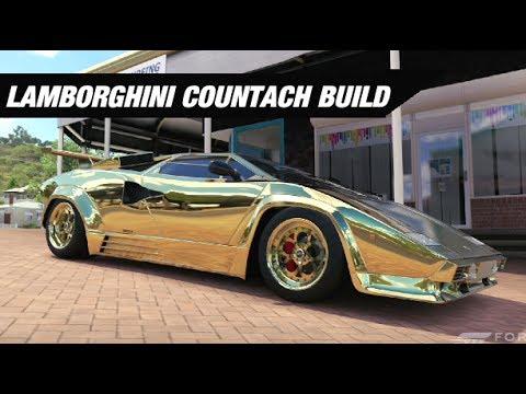 Gold Lamborghini Countach Build Forza Horizon 3 Youtube