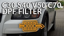 Check for DPF in Volvo C30, S40, V50, C70 (diesel particulate filter, FAP, 2.0D emission, euro5)