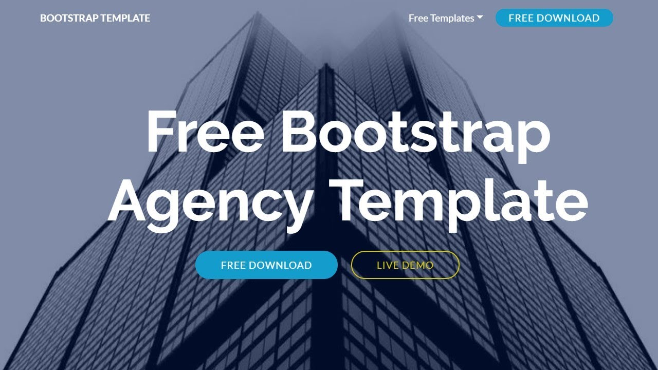 Bootstrap Agency Template - Free HTML Website Templates