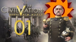 Civilization V Brave New World as Germany - Episode 1 ...Raging Barbarians!...