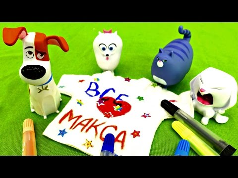 Видео Поделки. Игрушки из тайной жизни домашних животных. Подарок Максу на День РожденияМАЙКА С РИСУНКОМ